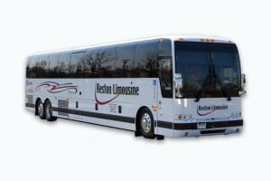 A luxury coach bus rental for up to 55 people in Washington DC