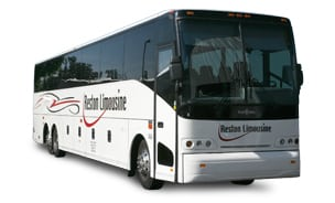 Luxury bus rental from Reston Limo