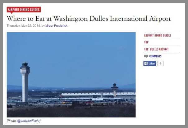 Where to Eat at Washington Dulles International Airport Airport Dining Guides Eater DC