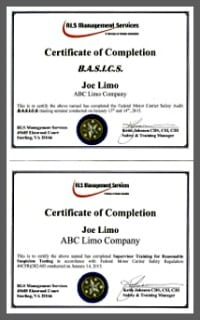 Certificates collage