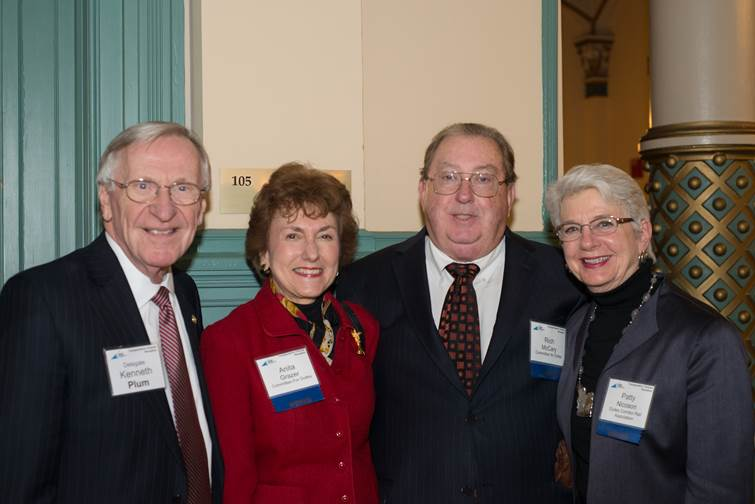 From left: Delegate Ken Plum (D-Reston); Anita Grazer and Rich McCary, Committee for Dulles; Patty Nicoson, Dulles Corridor Rail Association