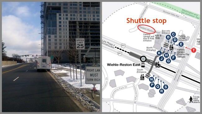 Wiehle pickup shuttle stop