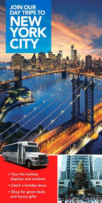 Celebrate The Holidays With Our New York City Day Trips