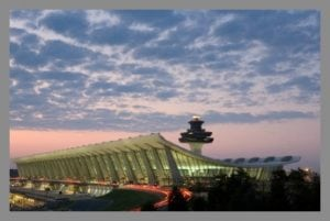 Dulles Airport framed