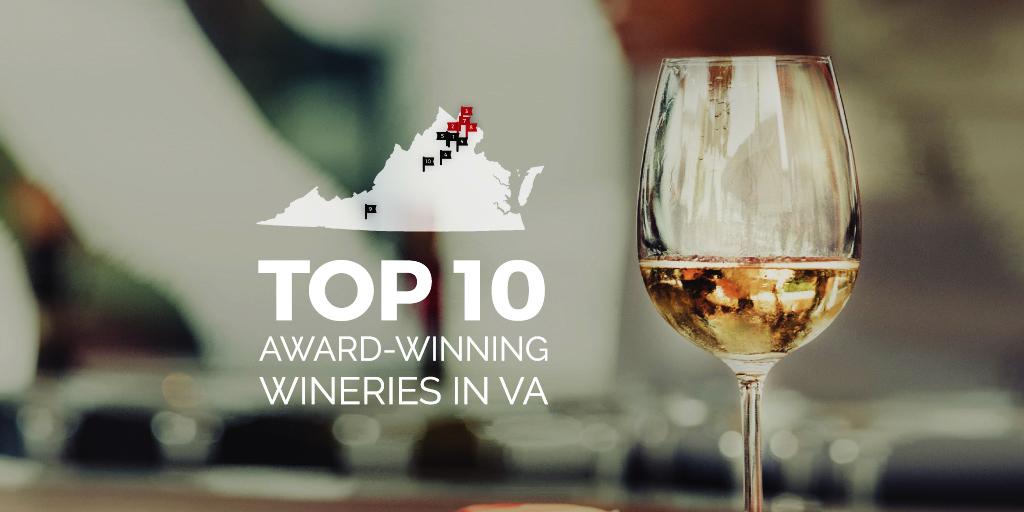 Map of Top Wineries in Virginia
